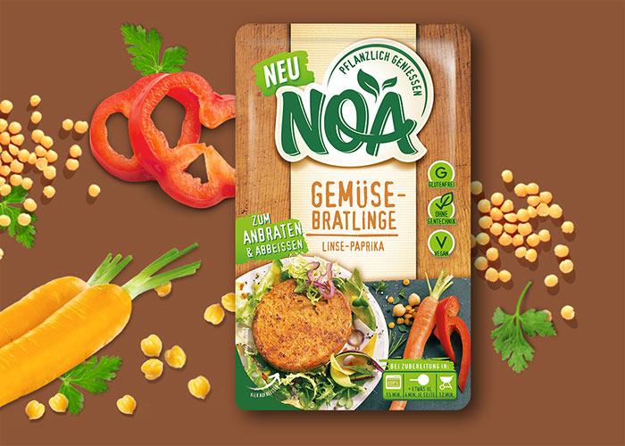 NOA Gemüsebratlinge<br>Linse-Paprika