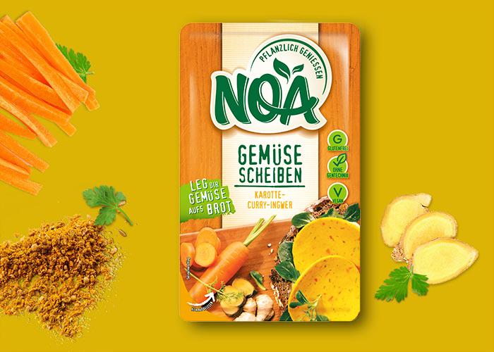 NOA Gemüsescheiben<br> Karotte-Curry-Ingwer