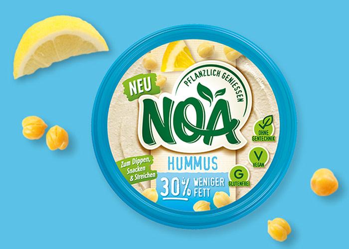 NOA Aufstrich<br>Hummus –30% weniger Fett