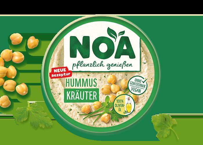 NOA Aufstrich<br>Hummus Kräuter