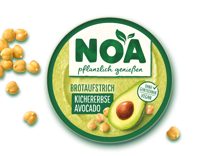 NOA Aufstrich<br>Kichererbsen-Avocado