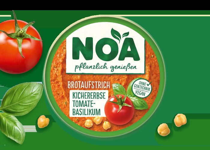 NOA Aufstrich<br>Kichererbse Tomate-Basilikum