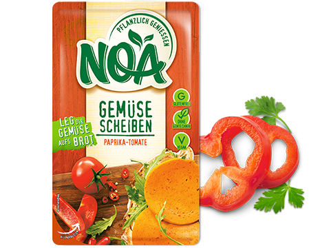 Gemüsescheiben Paprika Tomate