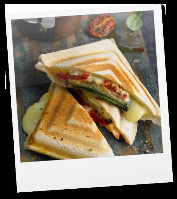 Gebackenes Sandwich