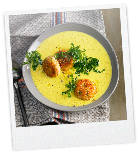 Schaumiges Curry-Süppchen