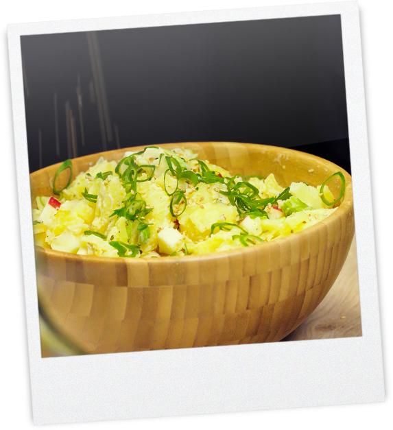 Frischer Kartoffel-Apfelsalat