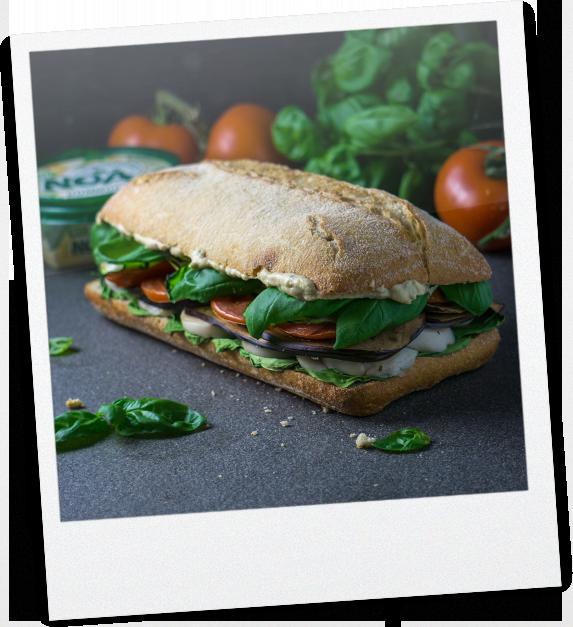 Getostetes Auberginen Sandwich