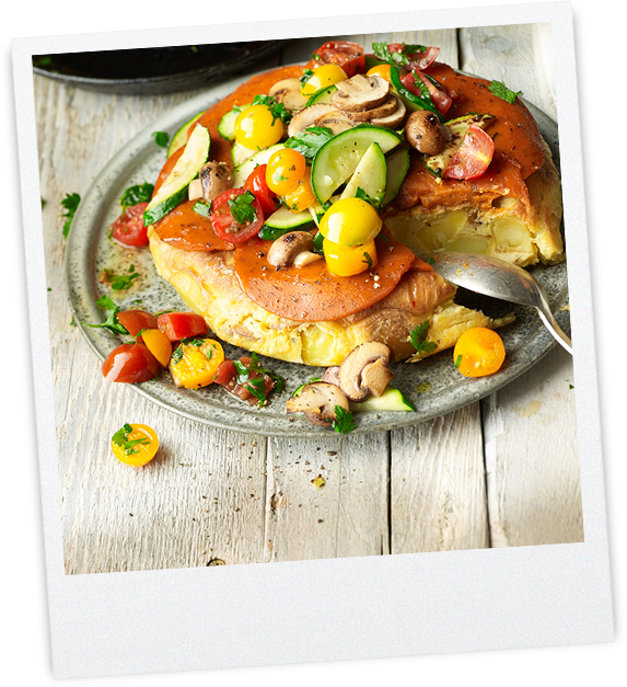 Tortilla mit Gemüsetopping