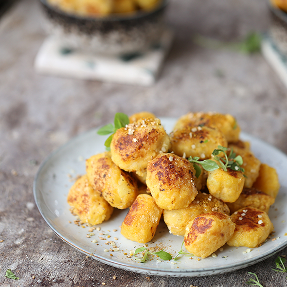 Linsen Curry Gnocci