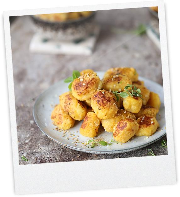 Linsen Curry Gnocchi