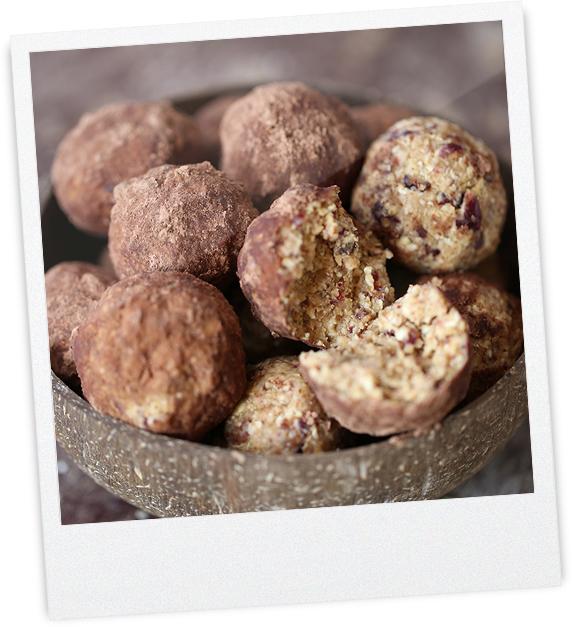 Schokoladen Bliss Balls