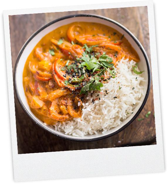 Bohne-Paprika-Curry