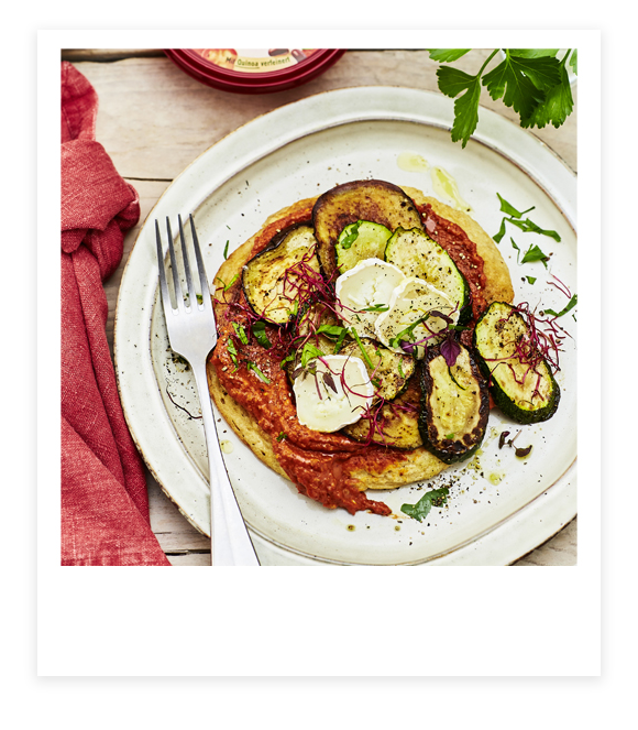 Bohnen-Paprika-Pfannkuchen