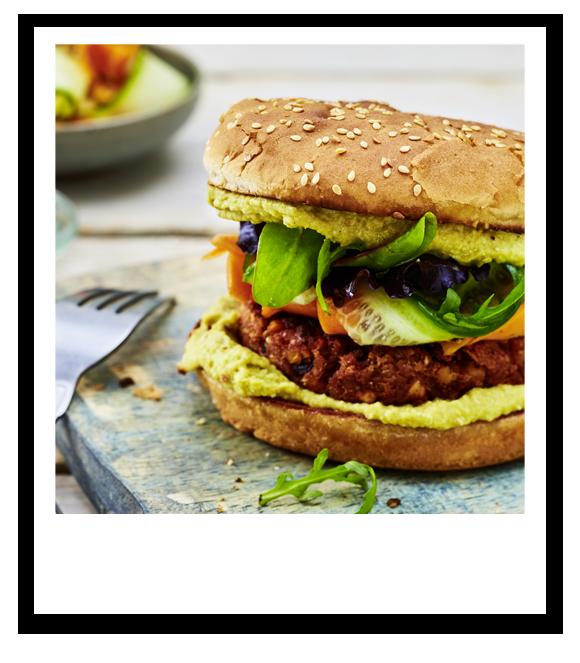 Rote-Bete-Linsen-Burger mit Kichererbsen