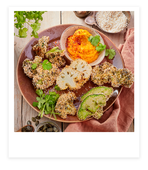 Brokkoli und Blumenkohl im Knusper-Mantel