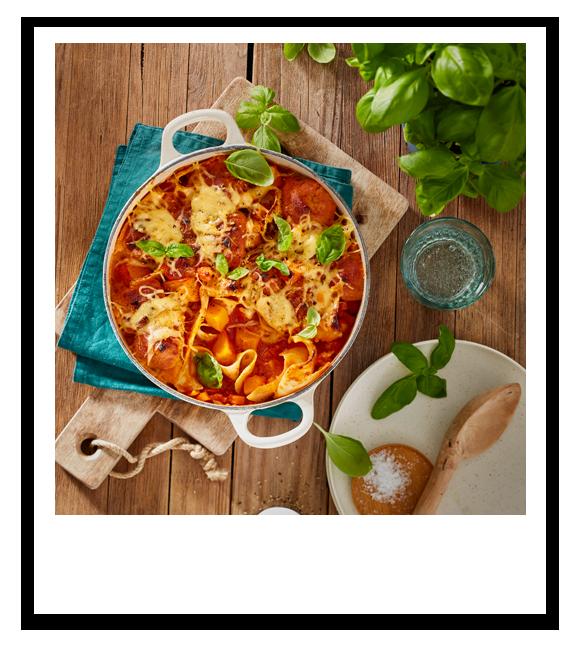 Vegane One-Pot-Gemüse-Lasagne